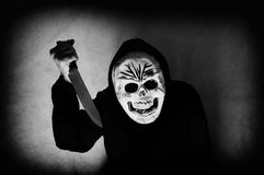 Ludzka czaszki maska zdjęcia stock