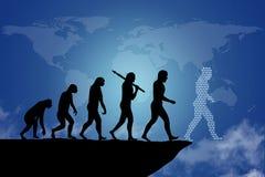 Ludzka ewolucja royalty ilustracja