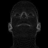 Ludzka głowa. Druciana rama odpłaca się royalty ilustracja