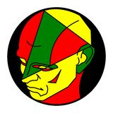 Ludzka Kolorowa głowa II ilustracja wektor