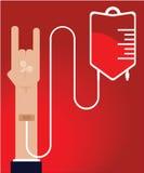Ludzka krwionośna darowizna Zdjęcia Stock