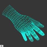 Ludzka ręka Ludzki ręka model Ręki skanerowanie 3d Nakrywkowa skóra Fotografia Stock