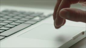 Ludzka ręka, Touchpad i klawiatura laptop zbiory