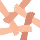 Ludzka ręka związku praca zespołowa Zdjęcie Royalty Free