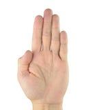 Ludzka ręka Obraz Royalty Free