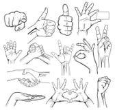 Ludzka ręka znaka kolekcja Obrazy Royalty Free