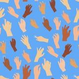 Ludzka wektorowa ręki prasy guzika ręki palca kontrola pchnięcia pointeru kursoru celu gesta interneta ciała ludzkiego część różn ilustracja wektor