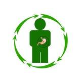 Ludzki żołądek jest w niebezpieczeństwie Obraz Stock