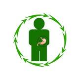 Ludzki żołądek jest w niebezpieczeństwie Obrazy Stock