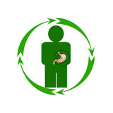 Ludzki żołądek jest w niebezpieczeństwie Zdjęcia Stock