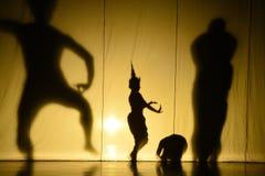 Ludzki cienia przedstawienie Fotografia Royalty Free