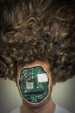 Ludzki cyborga robot obrazy royalty free