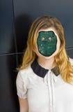 Ludzki cyborga robot zdjęcia royalty free