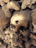 Ludzki czaszki dziura po kuli obrazy royalty free