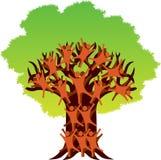 Ludzki drzewny logo ilustracji