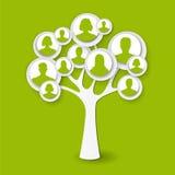 Ludzki drzewo ilustracja wektor