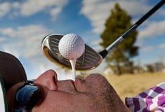 ludzki golfa, tee obrazy royalty free