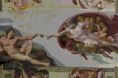 Ludzki kreacjonizm Michelangelo Fotografia Royalty Free
