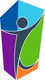ludzki logo Zdjęcie Stock
