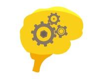 Ludzki mózg ilustracja Fotografia Royalty Free