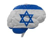Ludzki mózg jest barwiącym flaga Izrael Fotografia Royalty Free