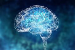 Ludzki m?zg i sw?j potencja?y Konceptualny wzrok - 3D ilustracja ilustracji