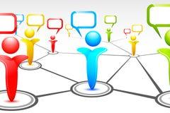 ludzki networking royalty ilustracja