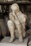 Ludzki ofiary ciało ciskający od Pompeii Fotografia Royalty Free
