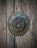 Ludzki oko i keyhole Zdjęcia Stock