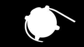 Ludzki oko wiruje, alfa, akcyjny materiał filmowy ilustracji