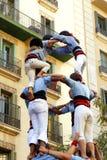 Ludzki ostrosłup w Barcelona Zdjęcie Royalty Free