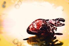 Ludzki serce i DNA pojęcie kierowej choroby traktowania ilustracja wektor