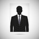 Ludzki sylwetka cel annonymous osoba Fotografia Stock