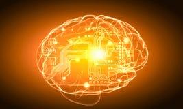 Ludzki umysł ilustracja wektor