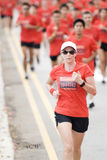 ludzki wiodącą nike biegowi biegacze Fotografia Stock