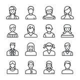 Ludzkich Avatars Kreskowe ikony ilustracja wektor
