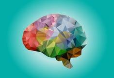 ludzkich mózg geometryczni trójboki ilustracji