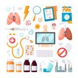 Ludzkich płuc wektorowa ikona w mieszkanie stylu royalty ilustracja