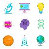 Ludzkie intelekt ikony ustawiać, kreskówka styl ilustracja wektor