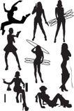 ludzkie motywów ruchów pozycje silhouette widok Zdjęcia Stock