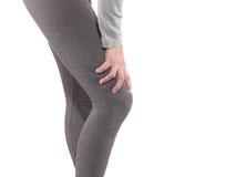 Ludzkiego kolano bólu złącza opieki zdrowotnej problemowy medyczny pojęcie zdjęcia royalty free