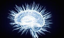 Ludzkiego mózg bodziec Mieszani środki Obraz Royalty Free