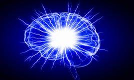 Ludzkiego mózg bodziec Mieszani środki Obrazy Royalty Free