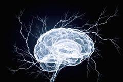 Ludzkiego mózg bodziec Mieszani środki Obrazy Stock
