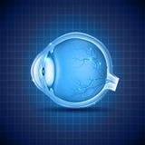 Ludzkiego oka abstrakcjonistyczny błękitny projekt Fotografia Royalty Free