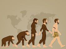 Ludzkiej ewoluci kreskówka ilustracja wektor