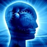 Ludzkiej głowy sylwetka Obrazy Stock