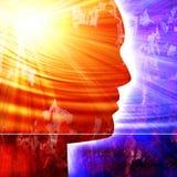 Ludzkiej głowy sylwetka Obraz Stock