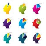 Ludzkiej głowy infographic projekt Zdjęcia Royalty Free