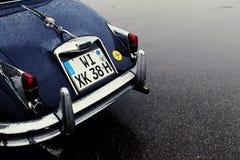 Lue Porsche d'annata 356 fotografia stock libera da diritti